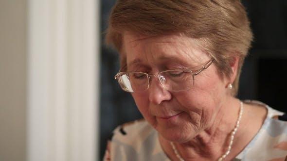 Thumbnail for Senior Woman Eating Homemade Food