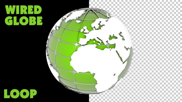 Thumbnail for Spinning Earth Globe - Green