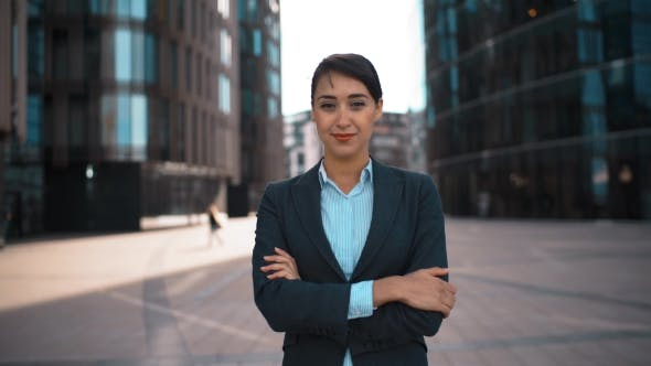 Young Sexy Businesswoman Portrait