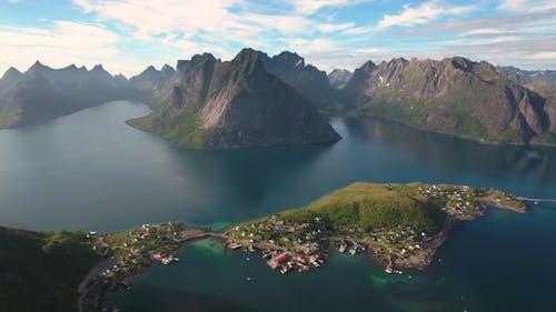 Lofoten Archipelago Islands Aerial Footage