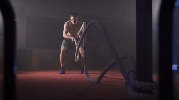 Thumbnail for Young Athlete Doing Exercise With Rope.