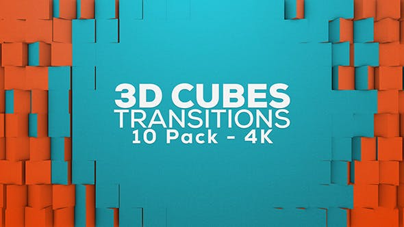 Thumbnail for 3D Cubes Transitions - 10 Pack - 4K