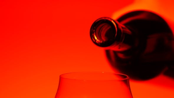 Thumbnail for Red Wine Pouring In Glass, Red,