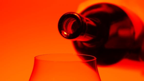 Thumbnail for Red Wine Being Poured From Bottle To Glass, Orange,