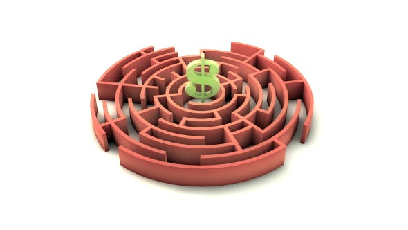 Thumbnail for 3d Maze With A Dollar Sign