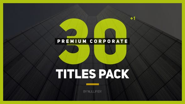 Thumbnail for 30+1 Premium Corporate Titles Pack