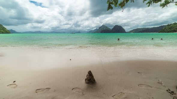 Cover Image for Landscape Of Las Cabanas Beach In El Nido. Palawan Island, Philippines