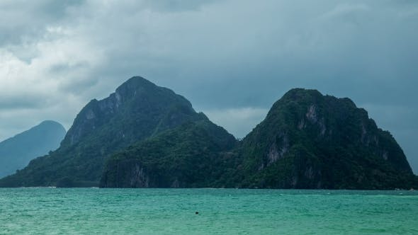Cloudy In Cadlao Island El Nido Palawan Island Philippines By Timelapse4k On Envato Elements