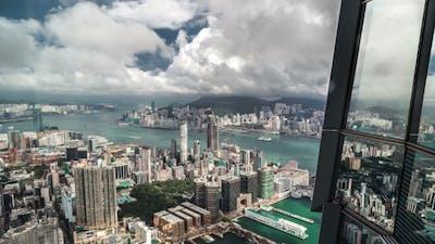 The Reflection Of Hong Kong Cityscape.   - August 2016, Hong Kong