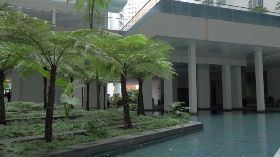 Thumbnail for In Kuala Lumpur, Malaysia Seen Building And Unusual Fountain