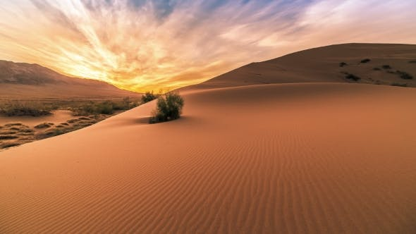 Cover Image for Sunrise In The Singing Sand Dunes In Altyn Emel.   - September 2016, Almaty And Astana, Kazakhstan