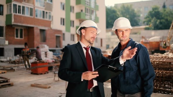 Thumbnail for Man Explain The Worker How To Work At Construction