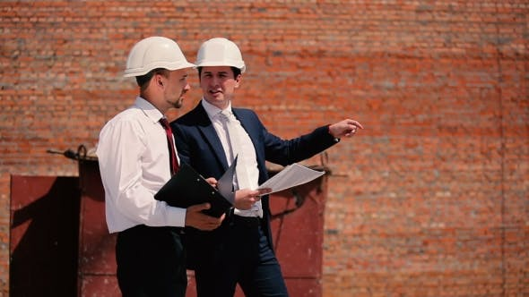 Thumbnail for Two Foreman At The Construction Discuss Problem