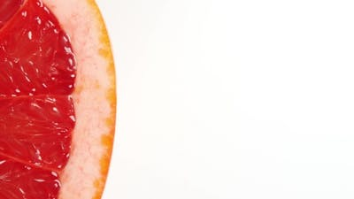 Rotating Slice Of Grapefruit
