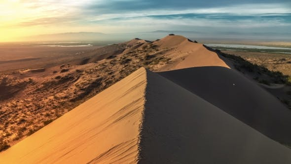 Cover Image for Sand Dune In Desert National Park Altyn-Emel, Kazakhstan
