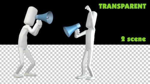 PoseMan Megaphone Animation