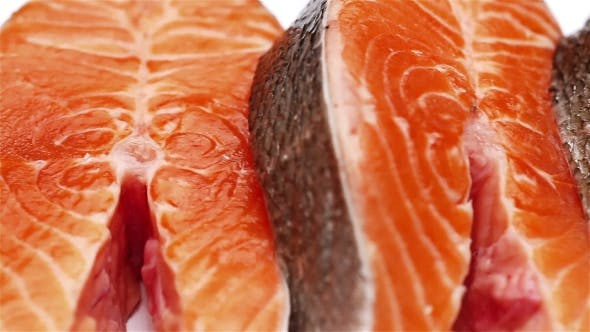 Thumbnail for Fresh Raw Salmon Red Fish Steak