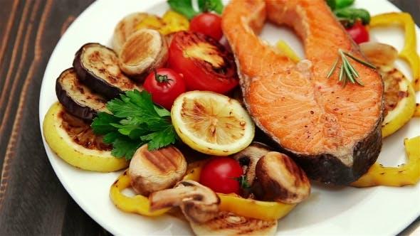 Thumbnail for Crispy Roasted Salmon Steak