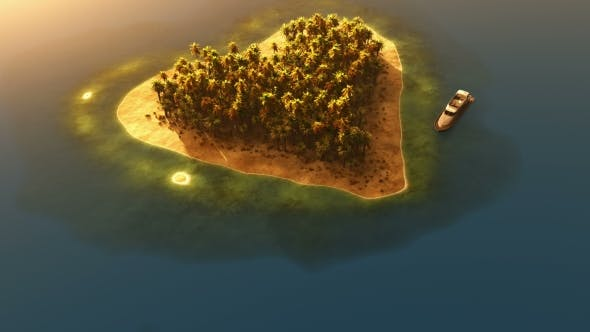 Thumbnail for Heart Shaped Paradise Island In Ocean