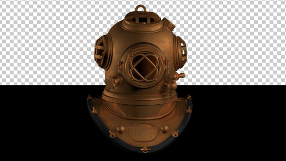 Thumbnail for Vintage Deep Sea Diver Metal Helmet