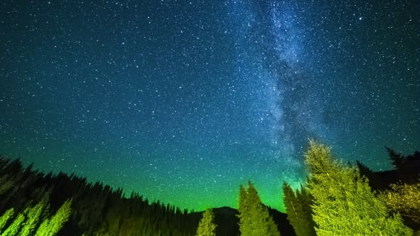 Thumbnail for Milky Way With Stars In The Mountains Kazakhstan