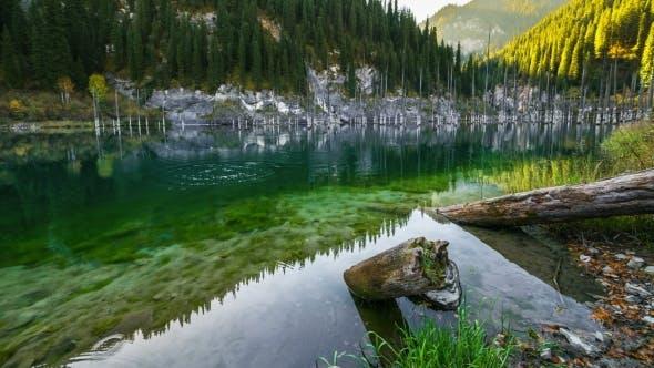 Thumbnail for Majestic Mountain Lake Kaindy In Mountains Kazakhstan.   - September 2016, Almaty And Astana