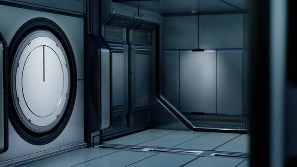 Thumbnail for 3D Rendering of Realistic Sci-fi Spaceship Corridor