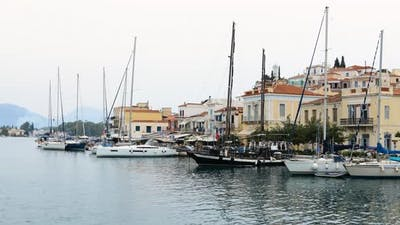 Poros in the Greece