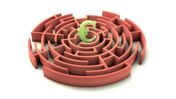 Thumbnail for 3d Maze With Euro Sign