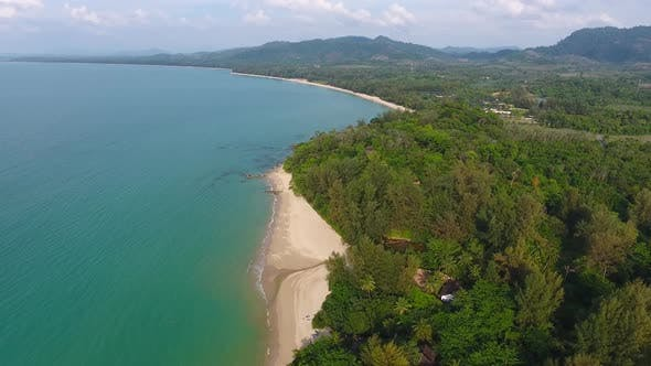 Thumbnail for Aerial Video of Landscape with Beach and Sea