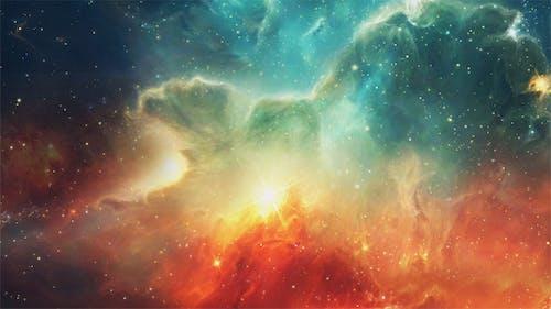 Bright Nebula in Space