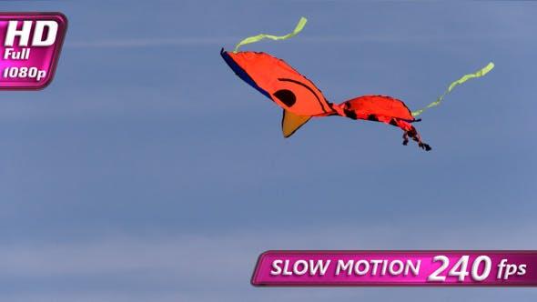 Kite Flying Against A Blue Sky