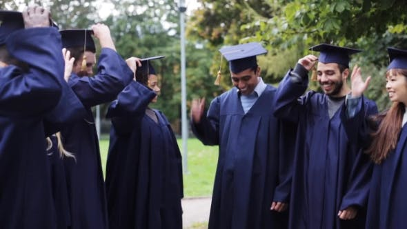 Thumbnail for Happy Students Throwing Mortar Boards Up 39