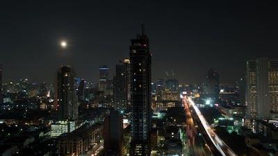 Of Night Illuminated Bangkok