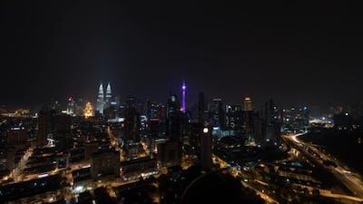 Night Illuminated Kuala Lumpur
