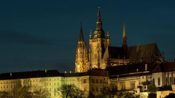Thumbnail for Illuminated Prague Castle At Night