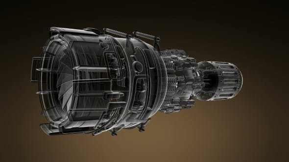 Thumbnail for Loop Rotate Jet Engine Turbine