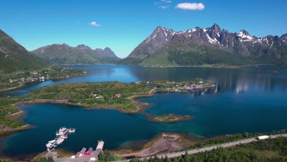 Aerial Footage Beautiful Nature Norway.