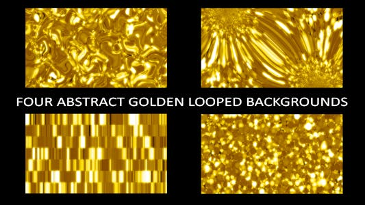 Cover Image for Four Abstract Golden Looped Backgrounds