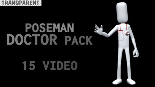 PoseMan Doctor Animation Set - 15 Pack