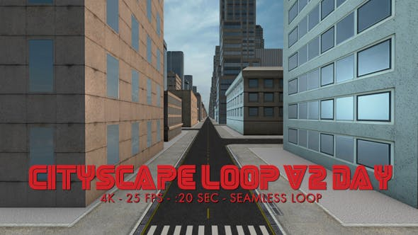 Thumbnail for Cityscape Loop 2 Day 4k