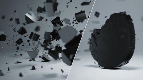 Elegant 3D Shatter Logo