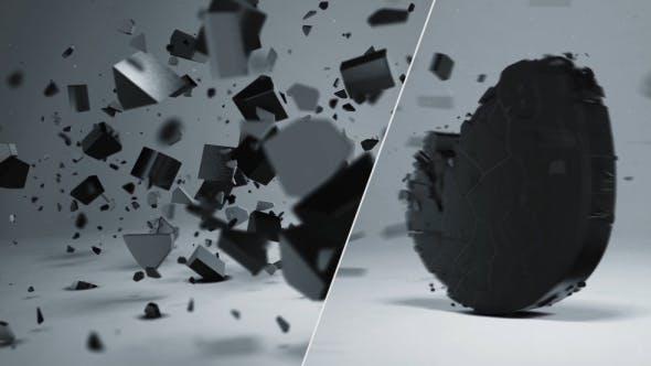 Thumbnail for Elegant 3D Shatter Logo