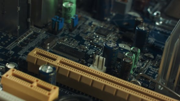 Thumbnail for Installed In The Computer Motherboard CPU