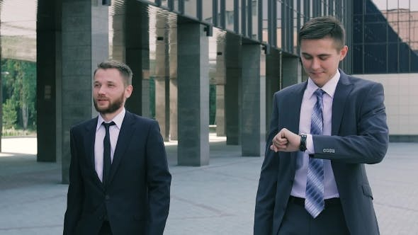 Thumbnail for Business Men Walking To The Office In The Morning