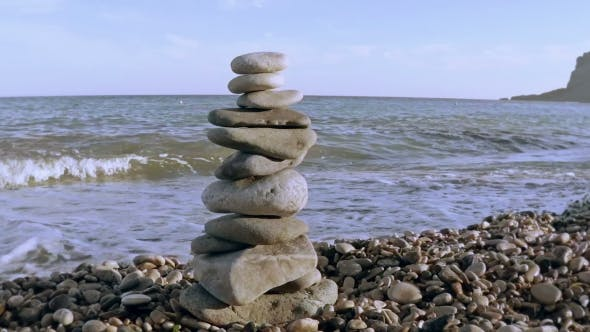 Thumbnail for Stone Tower On a Seashore.