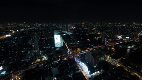 Thumbnail for Night of Bangkok, Panorama of Illuminated City