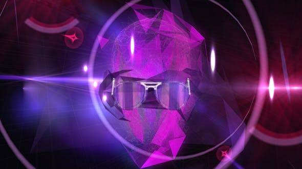 Thumbnail for Night Club Face Vj Background