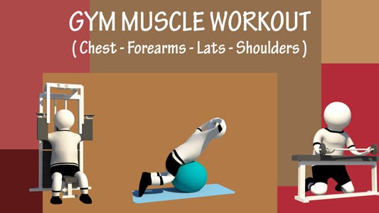 Thumbnail for Gym Muscle Workout (Chest - Forearms - Lats - Shoulders)