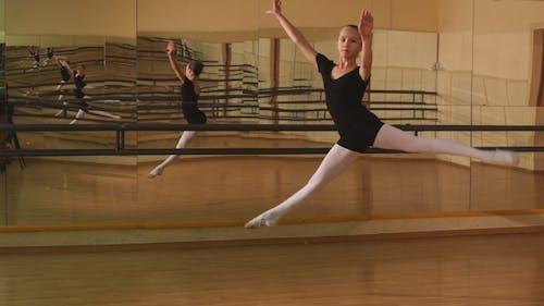 Flexible Girl In Mid Air